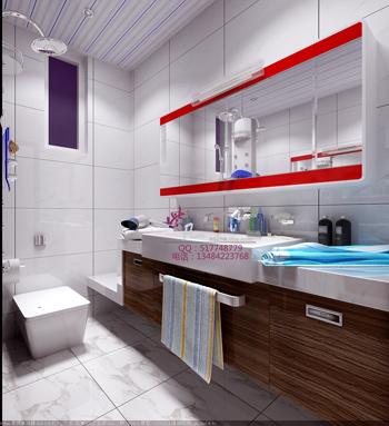 Luminoso y amplio cuarto de ba o modernos modelos 3d 3d for Bathroom design 3d free download