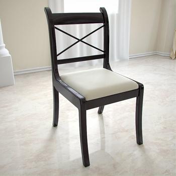 Negra europea de madera sillas de comedor 3d model for Sillas modelos madera