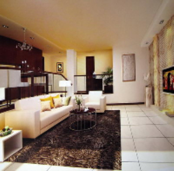 Moderno minimalista en blanco y negro estilo sala de estar for Sala de estar blanco y negro
