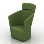 dark green armchair model