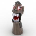 funny weird wood model