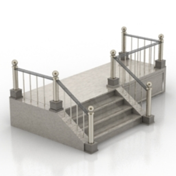 Escalera western 3d model download free 3d models download for Escaleras 3d max