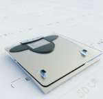 Slim electronic scales 3D model