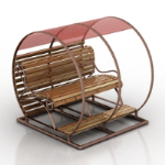 romantic European-style rocking chair 3D model